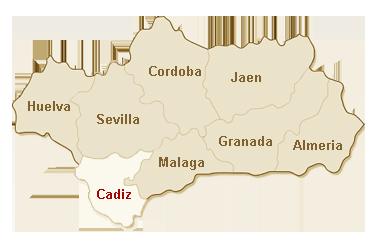 kaart Cadiz