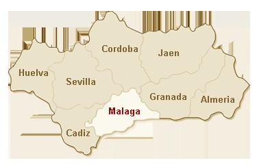 kaart Malaga