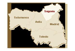 kaart Segovia