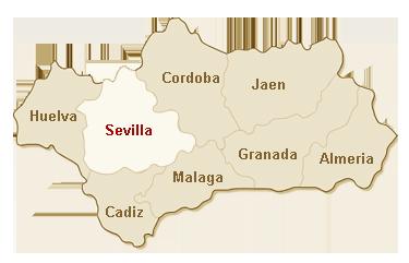 kaart Sevilla