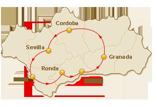 Rondreis route voor 7. Andalusische Emoties