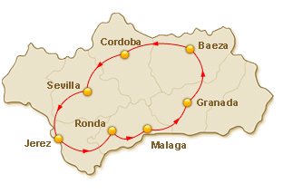 Rondreis route voor 9. De Parels van Andalusië