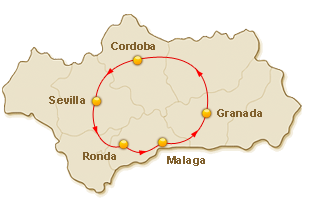 Rondreis route voor 4. Andalusië in Stijl