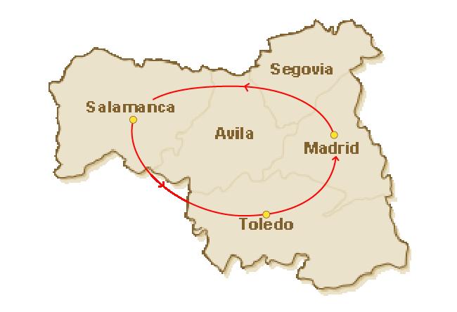 Rondreis route voor 3.Castilië in een notendop